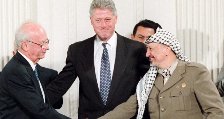 the handshake photo- rabin, arafat and clinton