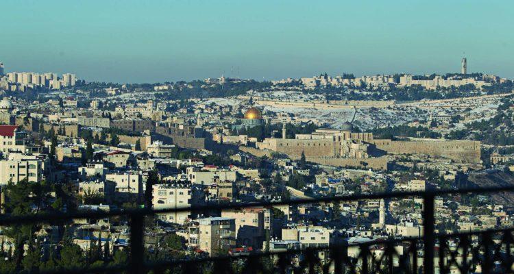 view from balcony of jerusalem