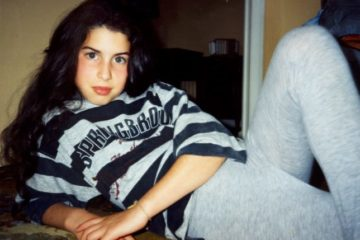 Amy posing as a youngster