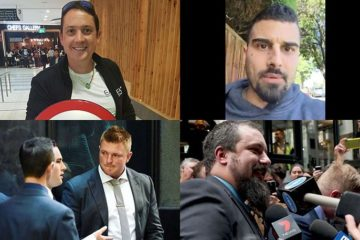four separate photos of 4 right wing extremists