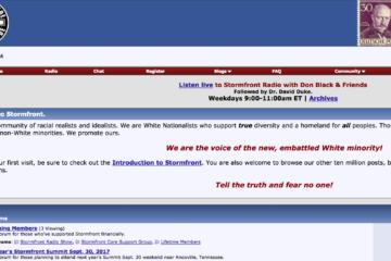 screenshot of stormfront