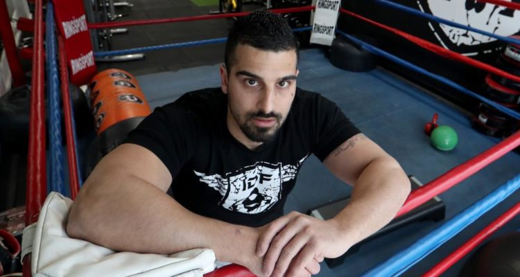 Avi posing in his boxing ring