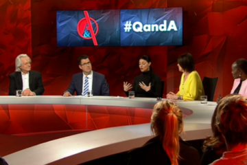 screenshot of the q and a panel