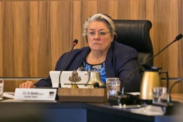 Mayor Sally sitting at official meeting