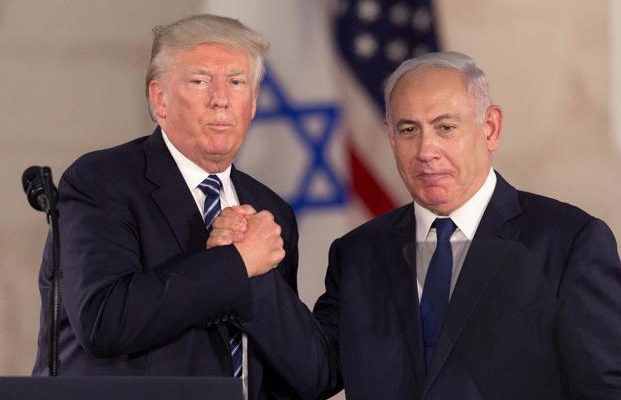 file photo of Trump and Netanyahu shaking hands
