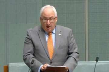 Danby speaking in parliament