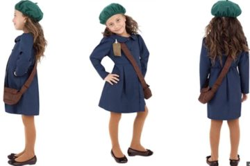 3 images of the costume modelled by a girl