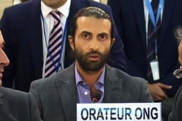 mosab speaking at the UN
