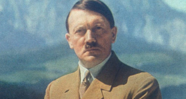 colour photo of Hitler, posed