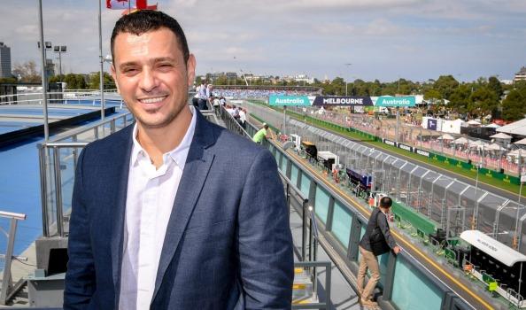 Ofir Hason posing at the Australian Grand Prix