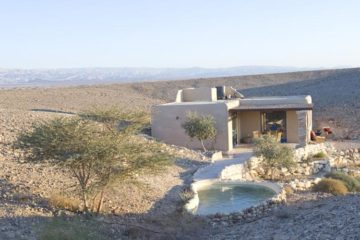 the accommodation with pool in front