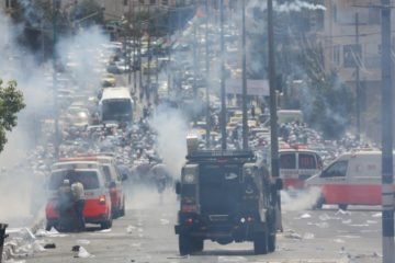 clashes on street in Bethlehem