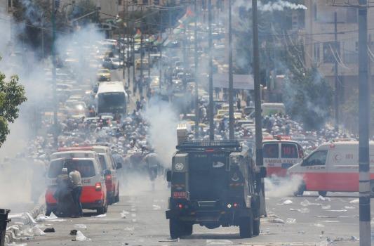clashes on street in Bethlehem