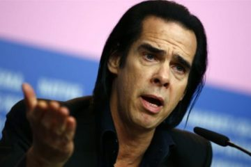 Nick Cave speaking at press conference