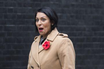 Priti Patel looking surprised