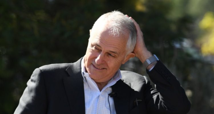 Turnbull touching head in a look that is supposed to look perplexed