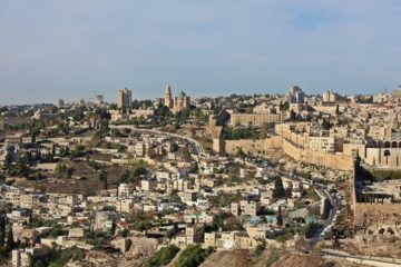 generic photo of Jerusalem with part of old city visible