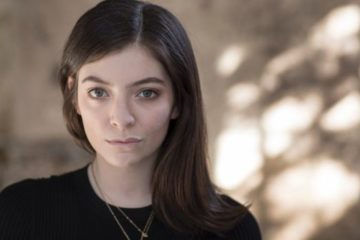 lorde publicity shot. looking at camera