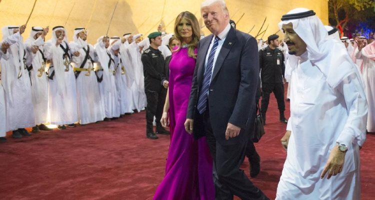 Melania and Donald Trump walk the red carpet in Saudi Arabia