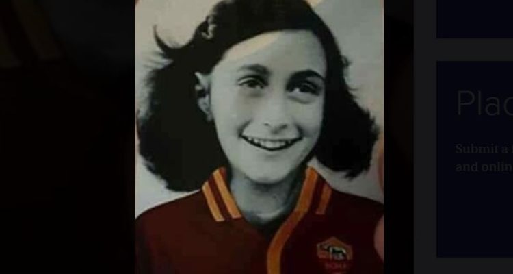anne frank in the football colours