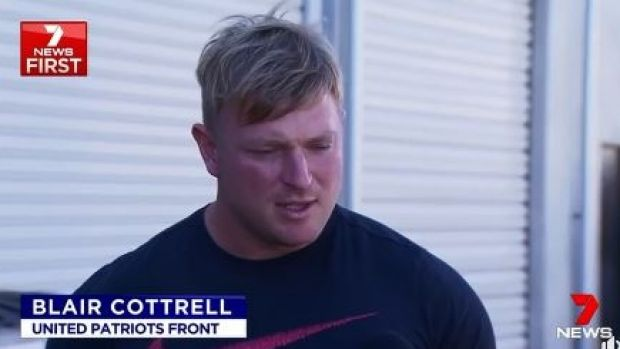 still from the news report of Cottrell's interview